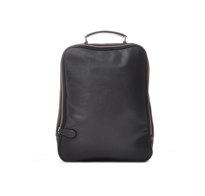 Black PU Ravenna Backpack