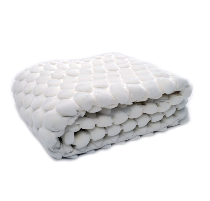 White Egg Throw 170x130