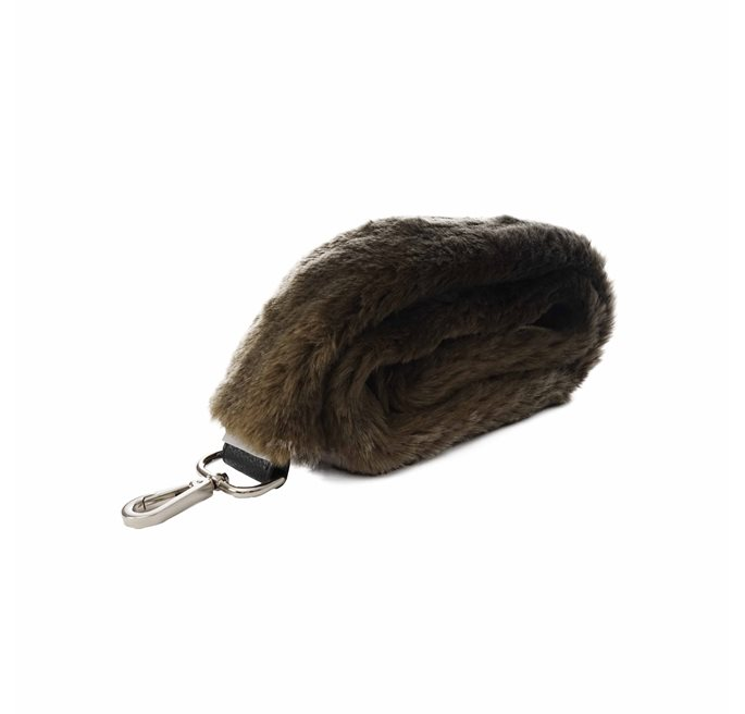 Brown Spring Deer Fake Fur Shoulder Strap
