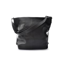 Black Shoulder Bag Grained Leather