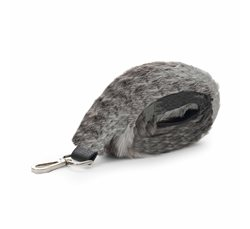 Black Spring Deer Fake Fur Shoulder Strap