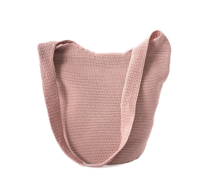 Soft Pink Crochet Body Bag