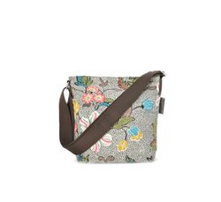 Grey Flower Small Shoulder Bag
